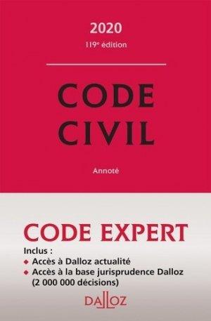 Code civil. Edition 2020 - dalloz - 9782247186679 -