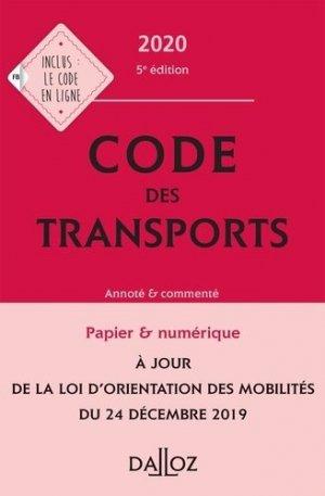 Code des transports 2020, annoté et commenté - dalloz - 9782247186723 -