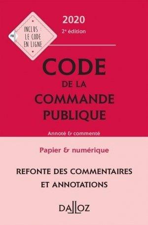 Code de la commande publique - dalloz - 9782247193615 -