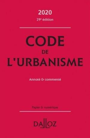 Code de l'urbanisme 2020, annoté et commenté - dalloz - 9782247193783 -