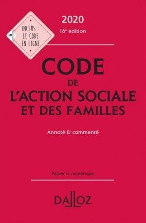 Code de l'action sociale et des familles. Annoté & commenté, Edition 2020 - dalloz - 9782247196265 -