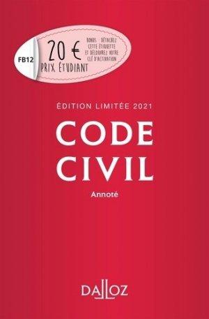 Code civil annoté. Edition 2021 - dalloz - 9782247196296 -