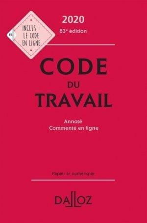 Code du travail 2020, annoté et commenté en ligne - dalloz - 9782247196579 -