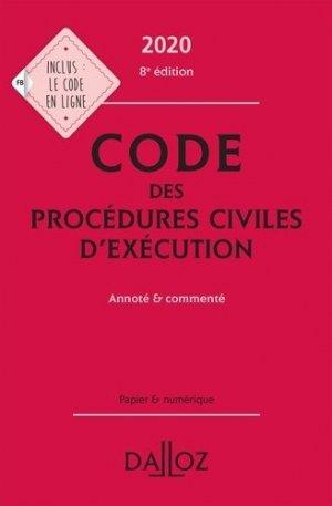Code des procédures civiles d'exécution. Annoté et commenté, Edition 2020 - dalloz - 9782247196661 -