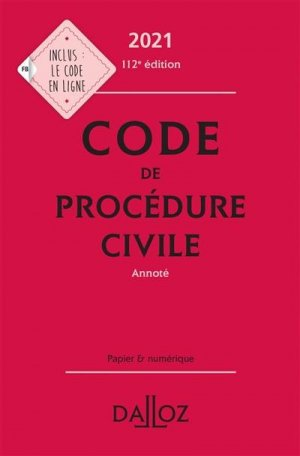 Code de procédure civile. Edition 2021 - dalloz - 9782247196692 -