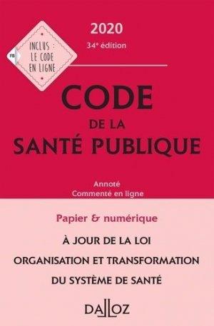 Code de la santé publique 2020 - dalloz - 9782247196784 -