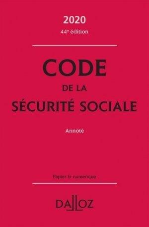 Code de la sécurité sociale 2020, annoté - dalloz - 9782247196807 -