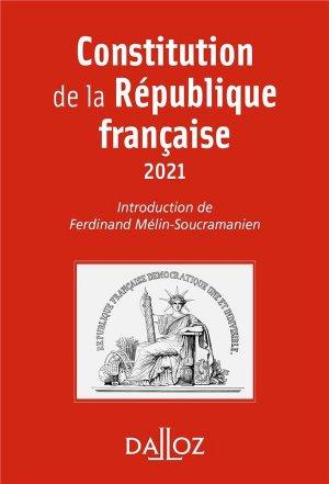 Constitution de la République française - dalloz - 9782247198139 -