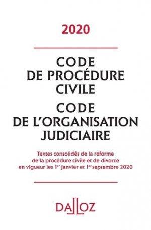 Code de procédure civile. Code de l'organisation judiciaire, Edition 2020 - dalloz - 9782247200429 -