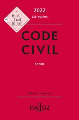 Code civil 2022 - dalloz - 9782247204892 -