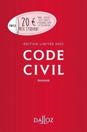 Code civil 2022 - dalloz - 9782247204908 -