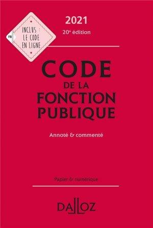 Code de la fonction publique - dalloz - 9782247205301 -