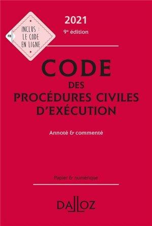 Code des procédures civiles d'exécution - dalloz - 9782247205394 -