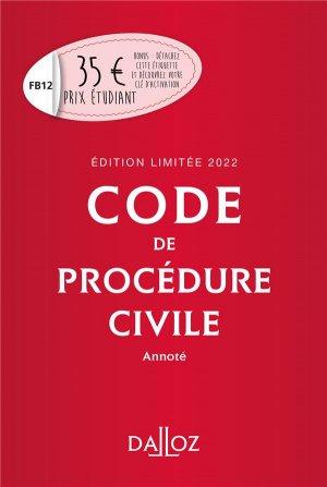 Code de procédure civile 2022 - dalloz - 9782247205417 -