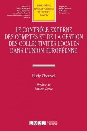 Controle externe des comptes et de la gestion des collectivités locales dans UE - LGDJ - 9782275088341 -