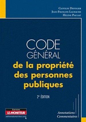 Code général de la propriété des personnes publiques - le moniteur - 9782281128338 -