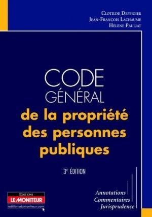 Code général de la propriété des personnes publiques. 3e édition - groupe moniteur - 9782281128918 -