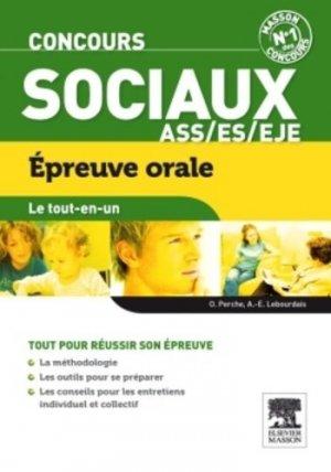 Concours sociaux ASS/ES/EJE Epreuve orale - elsevier / masson - 9782294719486 -