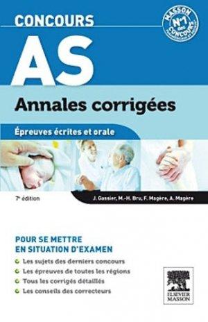 Concours AS Annales corrigées - elsevier / masson - 9782294719608 -