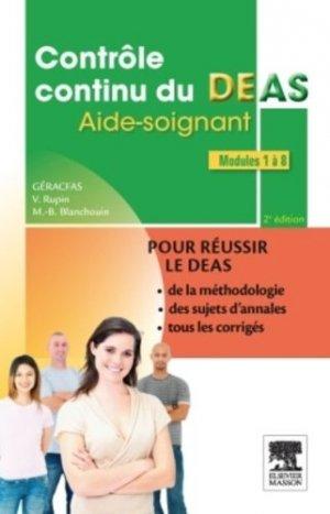 Contrôle continu du DEAS - elsevier / masson - 9782294726682 -