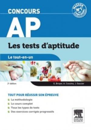 Concours AP Tests d'aptitude - elsevier / masson - 9782294728044 -