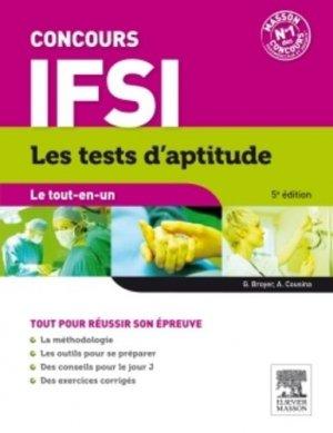 Concours IFSI - Les tests d'aptitude - elsevier / masson - 9782294731280 -