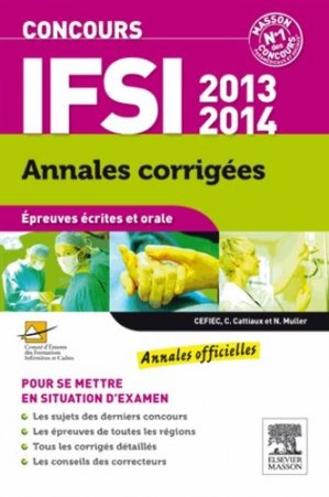 Concours IFSI 2013-2014 - elsevier / masson - 9782294737015 -
