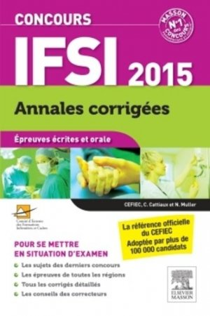Concours IFSI 2014-2015 - elsevier / masson - 9782294740831 -