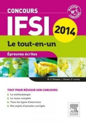 Concours IFSI Épreuves écrites 2014 - elsevier / masson - 9782294742385 -