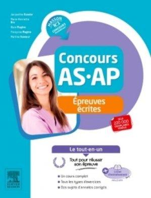 Concours AS/AP épreuves écrites - elsevier / masson - 9782294745676 -