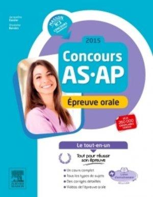 Concours AS / AP 2015 - Épreuve orale - elsevier / masson - 9782294746208
