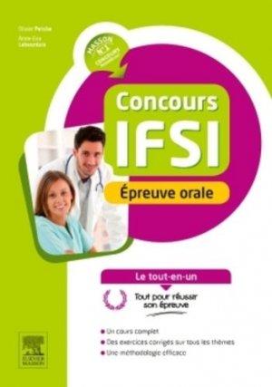 Concours IFSI Épreuve orale - elsevier / masson - 9782294748288 -