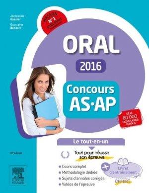 Concours AS / AP 2015 - Épreuve orale - elsevier / masson - 9782294749377 -