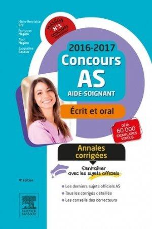 Concours AS Annales corrigées - elsevier / masson - 9782294749711 -