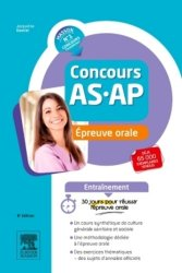 Concours AS/AP - Épreuve orale - Entraînement - elsevier / masson - 9782294750892 -