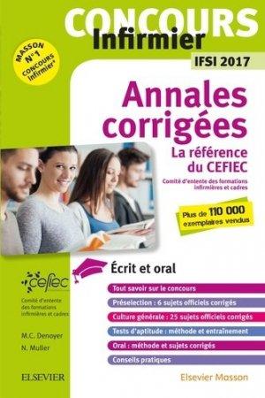 Concours Infirmier - Annales corrigées - IFSI 2017 - elsevier / masson - 9782294751837 -