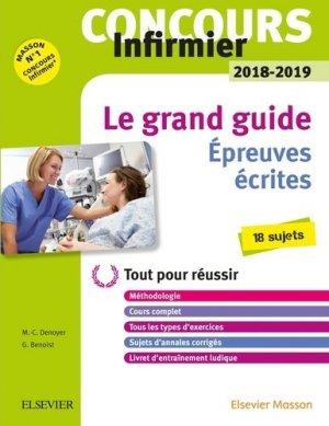 Concours Infirmier 2018-2019 - Epreuves écrites - elsevier / masson - 9782294759048 -