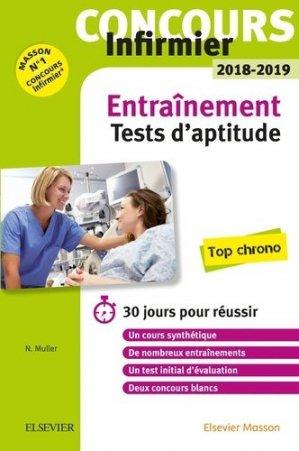 Concours Infirmier 2018-2019 - Les tests d'aptitude - Entraînement - elsevier / masson - 9782294760099 -