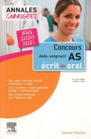 Concours Aide-soignant - elsevier / masson - 9782294772832 -