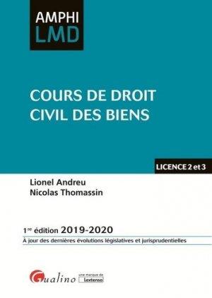 Cours de droit civil des biens - gualino - 9782297071987 -