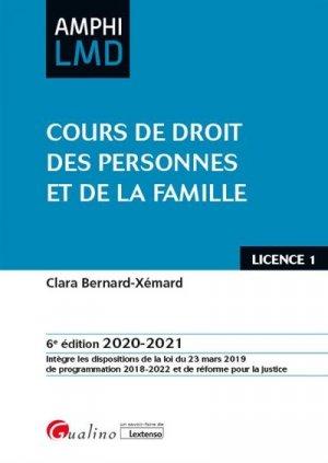 Cours de droit des personnes et de la famille. 6e édition - gualino - 9782297091305 -