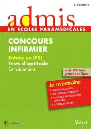 Concours infirmier Tests d'aptitude - vuibert - 9782311005066 -