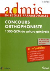 Concours orthophoniste - vuibert - 9782311010909 -