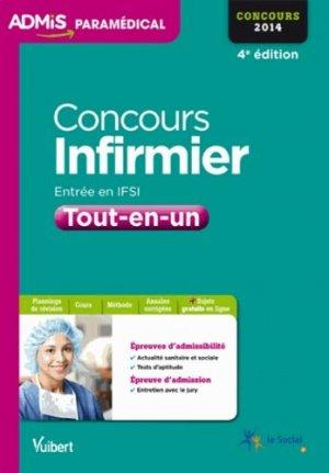 Concours Infirmier - Entrée en IFSI - vuibert - 9782311011685 -
