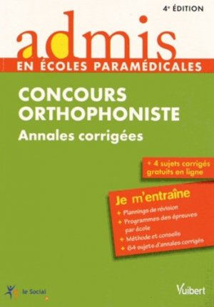 Concours orthophoniste - vuibert - 9782311011777 -