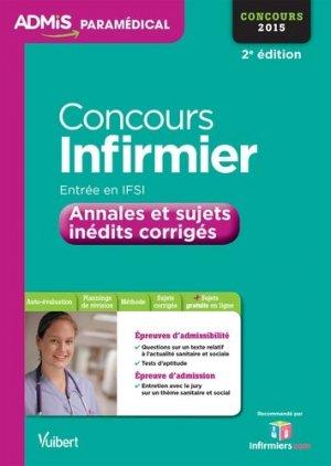 Concours Infirmier Entrée en IFSI - Concours 2015 - vuibert - 9782311200096 -