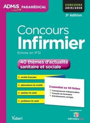 Concours Infirmier - vuibert - 9782311200119
