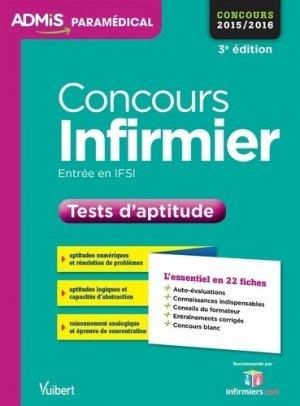 Concours infirmier - vuibert - 9782311200126 -