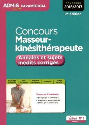 Concours Masseur-kinésithérapeute - vuibert - 9782311200249 -