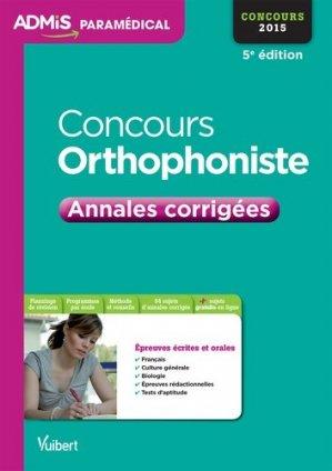 Concours orthophoniste 2015 - vuibert - 9782311200270 -